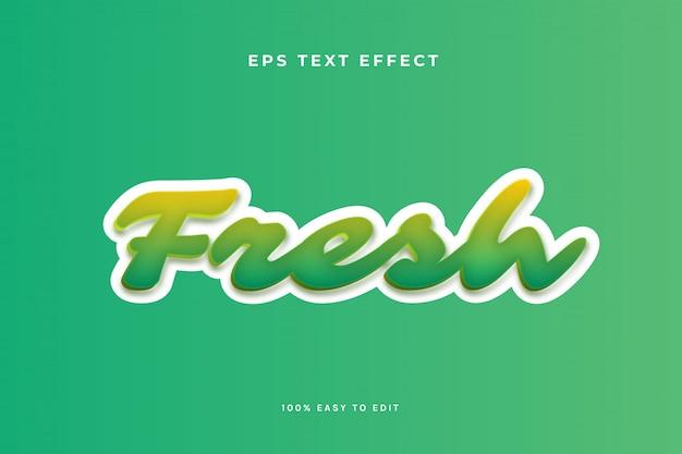 Свежий зеленый текстовый эффект
