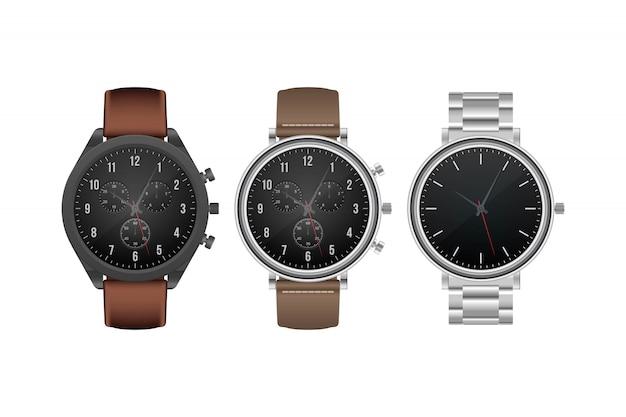 Реалистичная иллюстрация часов руки изолированная на белой предпосылке