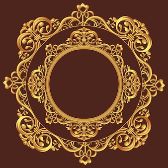 Золотой круг орнамент
