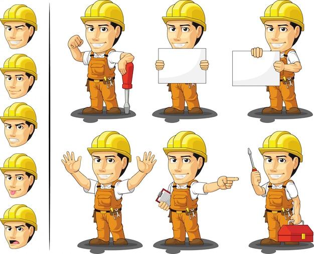 Промышленный строитель рабочий талисман