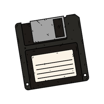 フロッピーディスクの図。