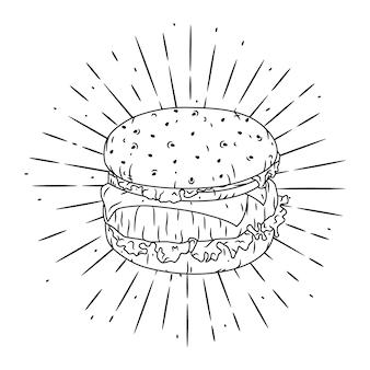 Иллюстрация с гамбургером.