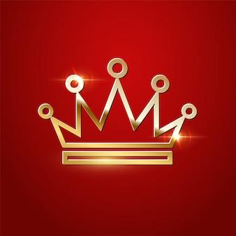 分離された黄金の輝く王冠