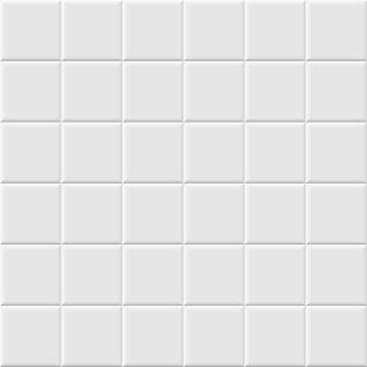 白いセラミックタイルのシームレスなパターン。