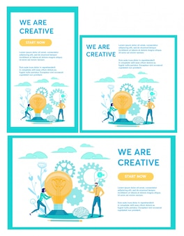 Векторные иллюстрации, набор написано, что мы креативны.