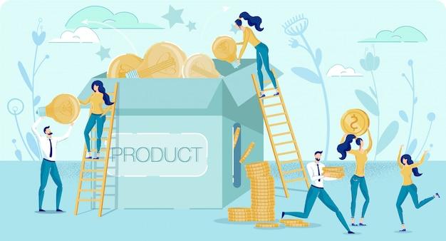 Метафора бизнес-идеи выгодного стартапа