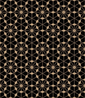 日本の組子スタイルの抽象的なシームレスパターン。