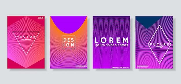 Абстрактные обложки с геометрическим дизайном полутонов