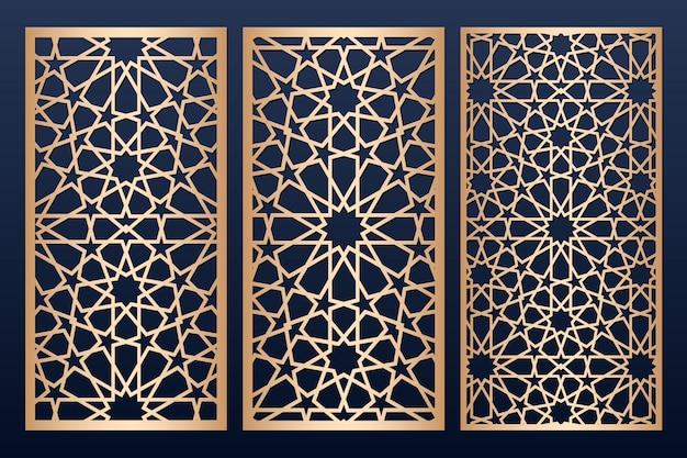 Лазерная резка шаблона панели с исламским рисунком.