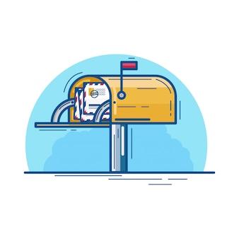 行内の文字と黄色のレターボックス