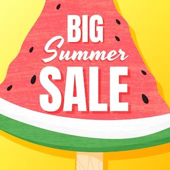 Последний большой летний распродажа баннер