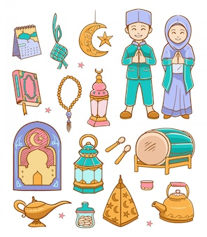 Каракули рамадан карим иллюстрация