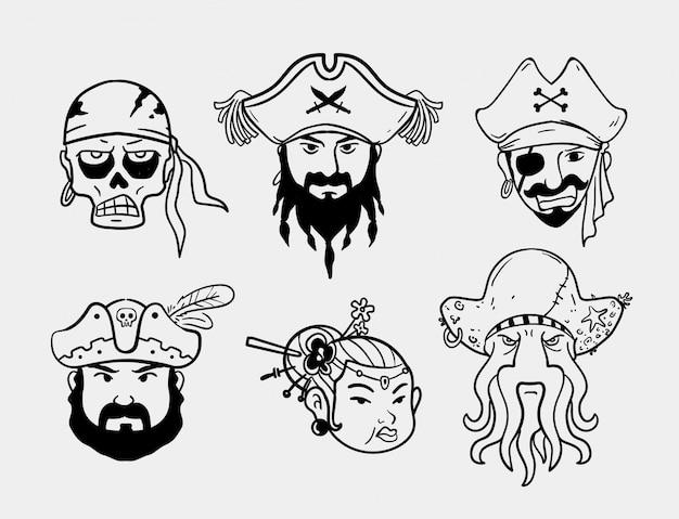 Иллюстрация пиратских лиц