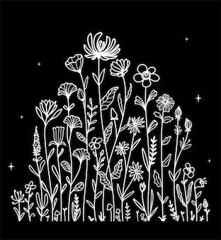 Иллюстрация графика рисованной цветок