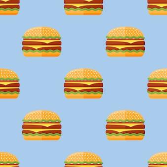 ダブルハンバーガーとのシームレスなパターン。
