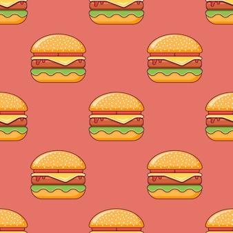 チーズバーガーとのシームレスなパターン。
