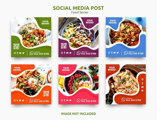 ソーシャルメディアの投稿バナー