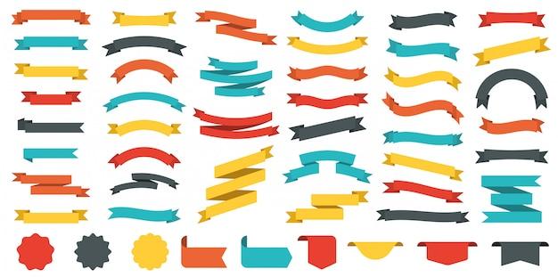 Коллекция разноцветных лент.
