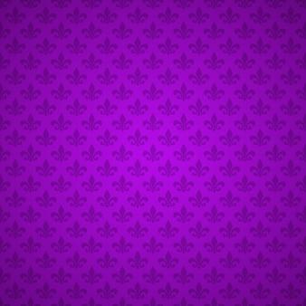 フルールデリスパターン。紫の紋章のユリ。