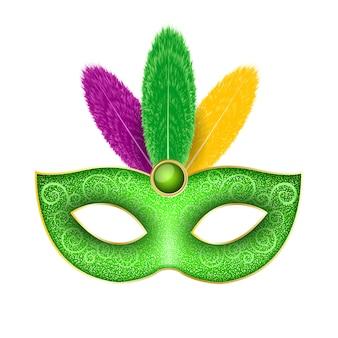 マルディグラのカーニバルのマスク。
