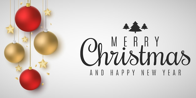 Праздничный шаблон для веселого рождества и счастливого нового года
