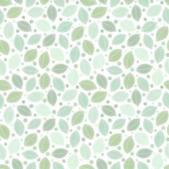 葉のシームレスなパターン背景