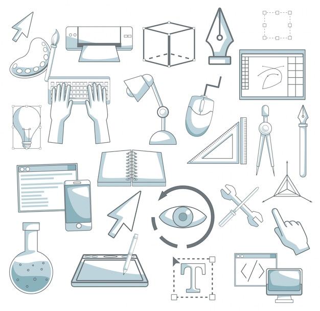 Белый фон с цветовыми элементами силуэта затенение элементов графический дизайн