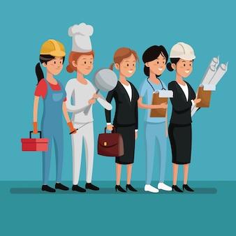 キャラクター女性の労働者の日のお祝い