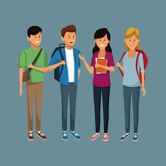 若い学生の漫画
