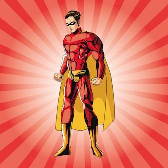 スーパーヒーロー漫画のドロー