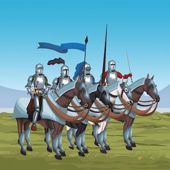 中世の戦士たち