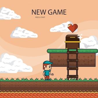 ピクセル化されたゲームの風景