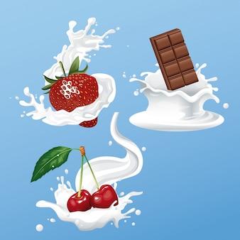 Флаер из шоколада и ягод