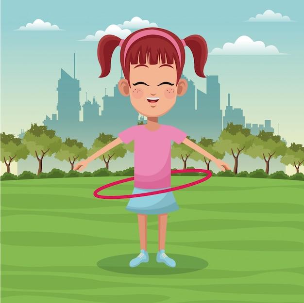 Девушка спортивный активный парк город фон