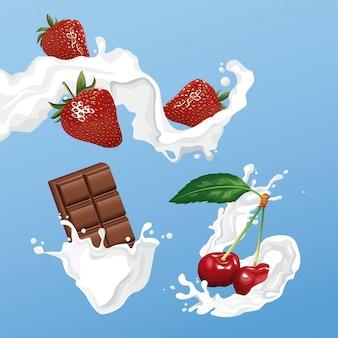 チョコレートとベリーフライヤー