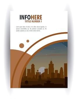 都市のパンフレットのインフォグラフィック