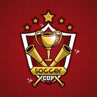 バッジに星が付いているサッカーカップの紋章