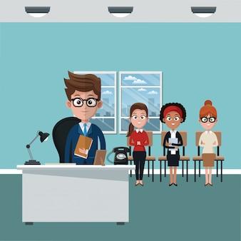 Исполнительная и командная работа в офисе