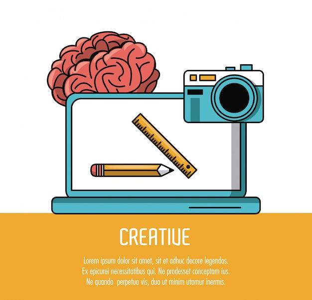 創造的なポスターをする