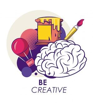 創造的なアイデアと色