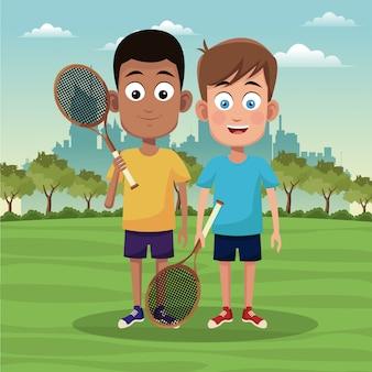 Мальчики и теннис