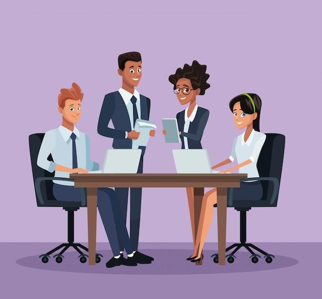 ビジネス同僚の漫画