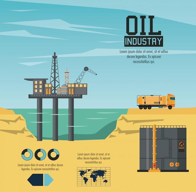 Инфографика нефтяной промышленности