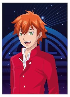 若い男アニメ漫画