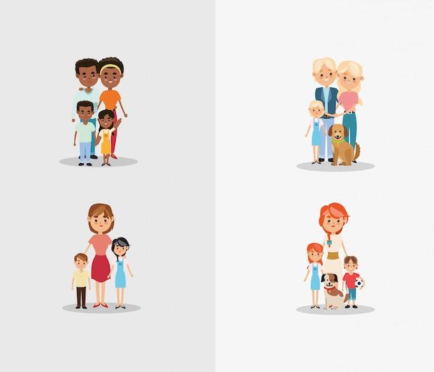 伝統的な家族イメージ