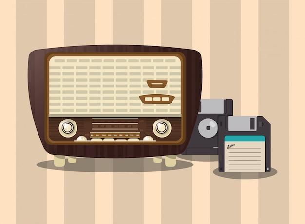 レトロなラジオ画像