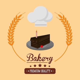 ケーキベーカリー関連エンブレム画像