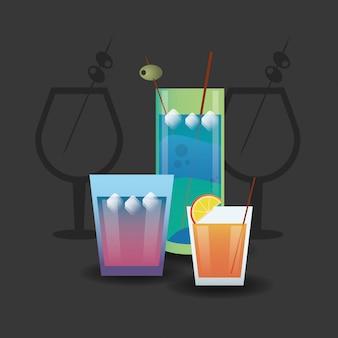 カクテルドリンクガラスイメージ