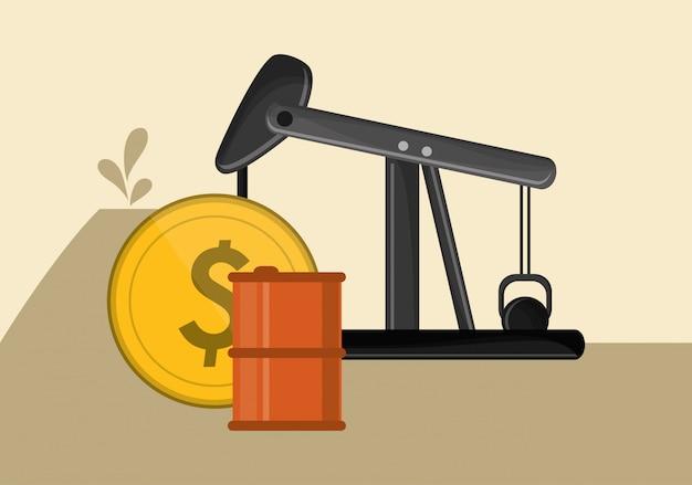 石油の抽出と洗練関連のアイコン画像