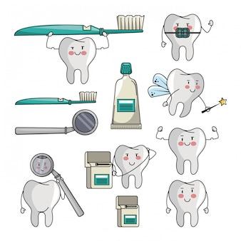 歯の漫画のセット